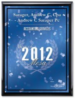 2012 Office Award Blue Plaque